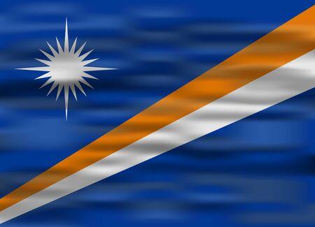 marshall: realistic flag marshall islands