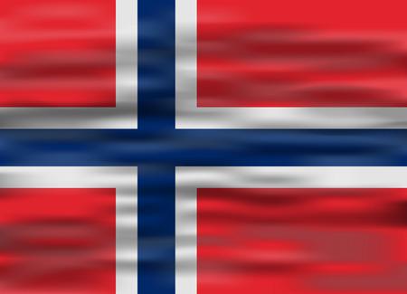 norway: realistic flag norway Illustration