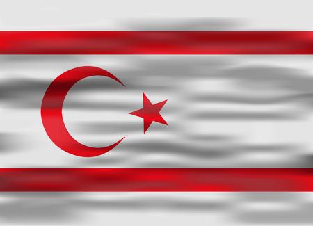 northern: realistic flag northern cyprus