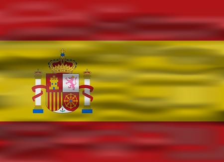 flag spain: realistic flag spain Illustration