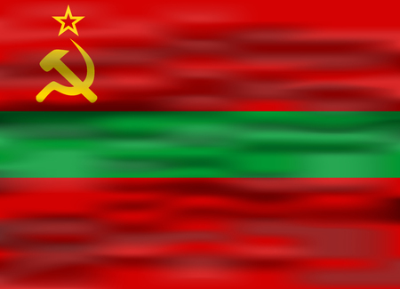 realistic flag transnistria