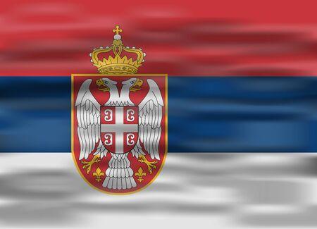 serbia: realistic flag serbia