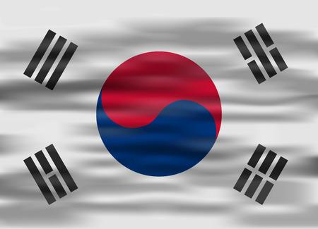 south korea: realistic flag south korea