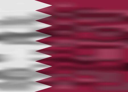 realistic flag qatar