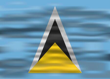 saint: realistic flag saint lucia