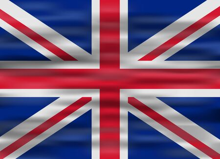 of the united kingdom: realistic flag united kingdom Illustration
