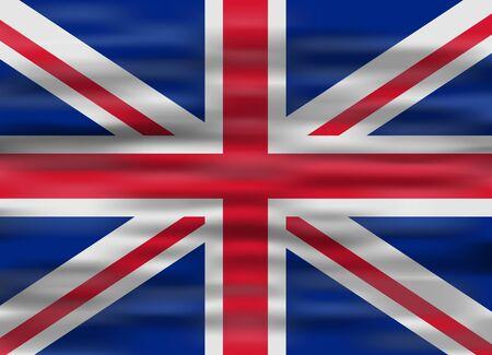 realistic flag united kingdom Illustration