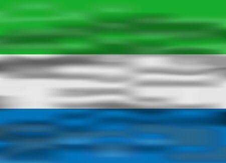leone: realistic flag sierra leone Illustration