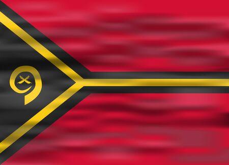 vanuatu: realistic flag vanuatu