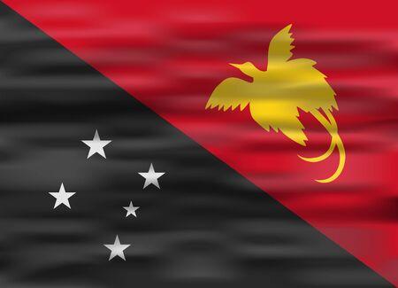 papua new guinea: realistic flag papua new guinea