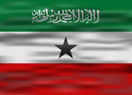 somaliland: realistic flag somaliland