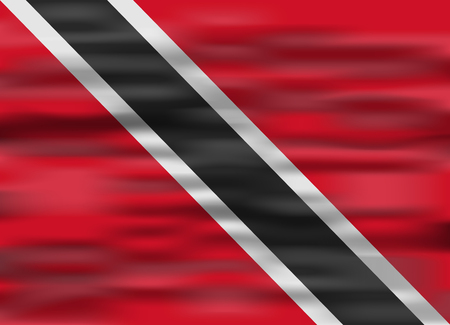 trinidad and tobago: realistic flag trinidad and tobago