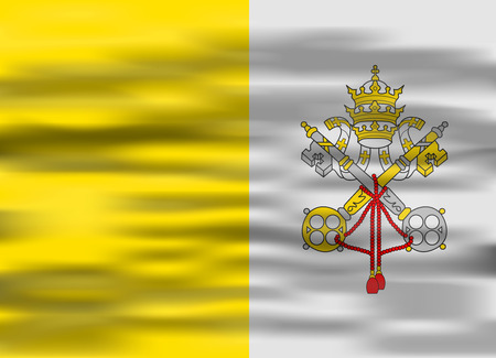 vatican city: realistic flag vatican city