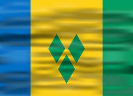 saint: realistic flag saint vincent