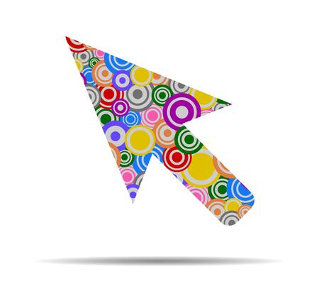cursor: cursor circles icon vector Illustration