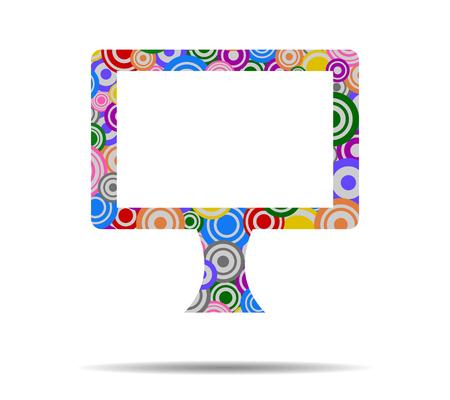display: display circles icon vector