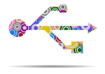 usb circles icon vector Illustration