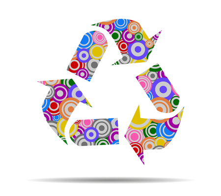 recycling: recycling circles icon vector