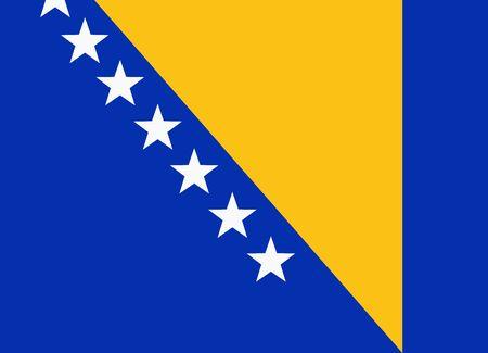 bosnia and herzegovina: flag of bosnia and herzegovina Illustration