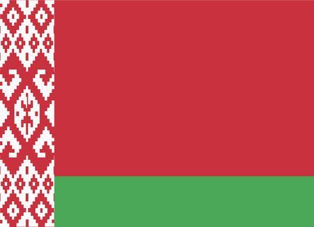 belarus: flag of belarus Illustration