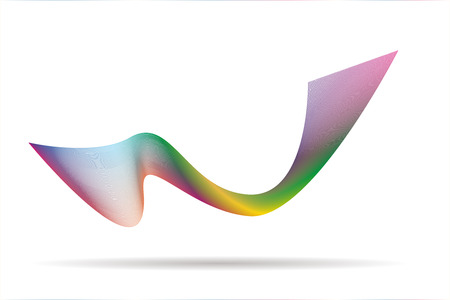 multicolor abstract wave background