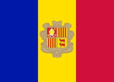 andorra: flag of andorra Illustration