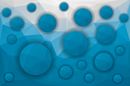 blue circles: low poly blue background and circles