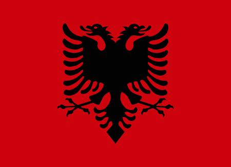 albania: flag of albania