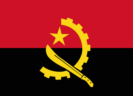 flag of angola Ilustrace