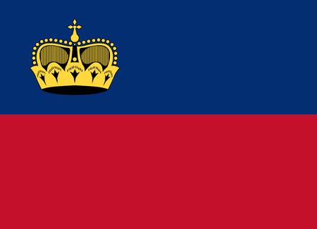 liechtenstein: flag of liechtenstein Illustration