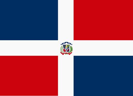 dominican: flag of dominican republic Illustration