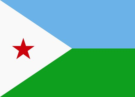 flag of djibouti Illustration