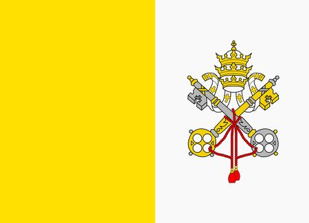vatican city: flag of vatican city