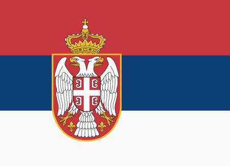serbia: flag of serbia