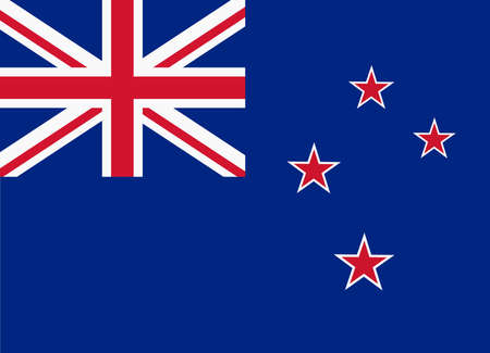 bandera de nueva zelanda: flag of new zealand Vectores