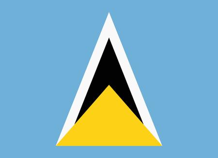 saint: flag of saint lucia