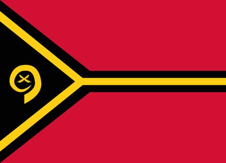 vanuatu: flag of vanuatu Illustration