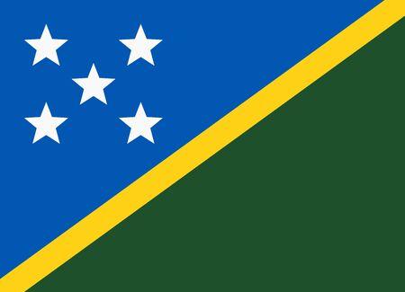 solomon: flag of solomon islands Illustration