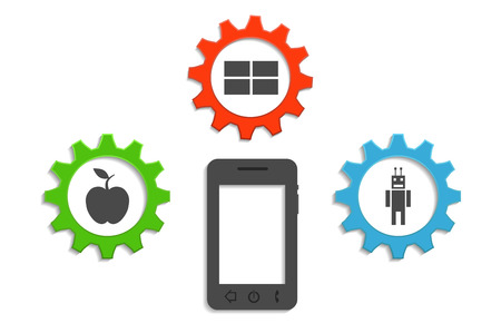 smartphone operating systems Vector Illustration