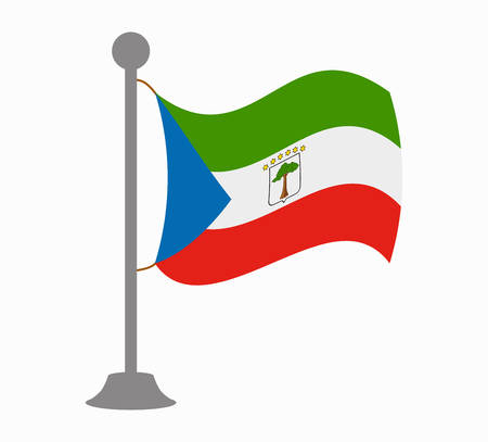 equatorial guinea flag mast Illustration