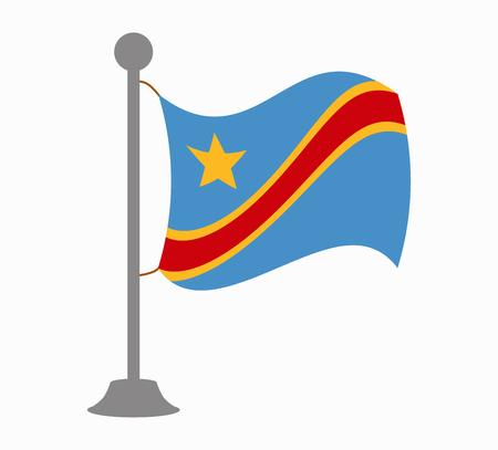Congo: congo flag mast