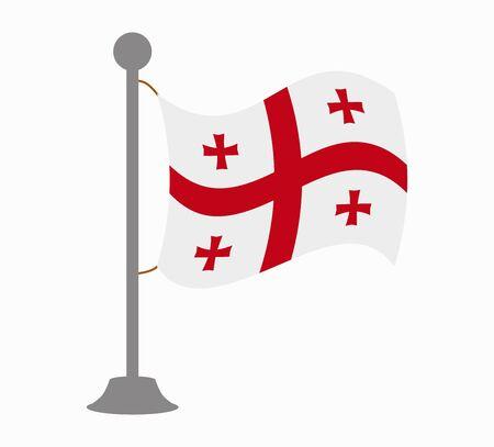 georgia: georgia flag mast