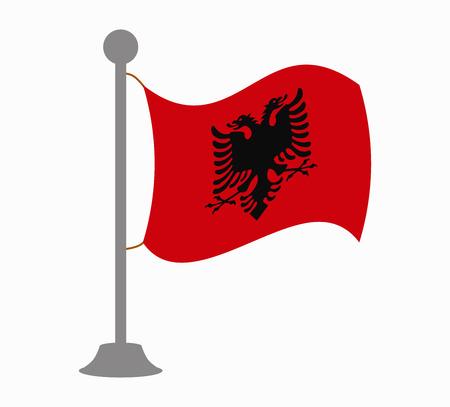 albania: albania flag mast