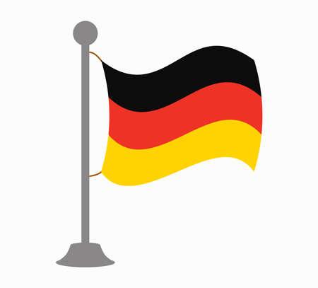 bandera de alemania: alemania mástil de la bandera