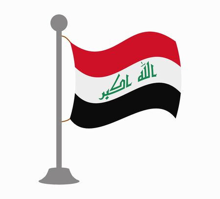 iraq flag: iraq flag mast Illustration
