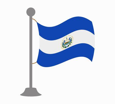 bandera de el salvador: El Salvador mástil de la bandera