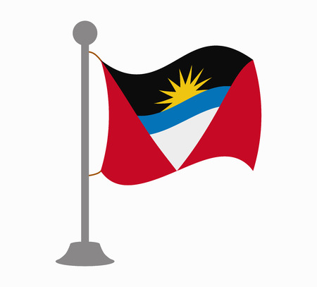 antigua: antigua and barbuda flag mast