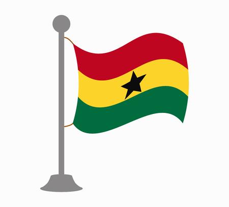 Ghana: ghana flag mast