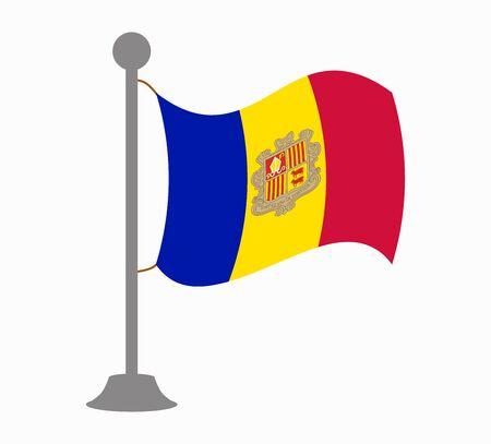 andorra flag mast Illustration
