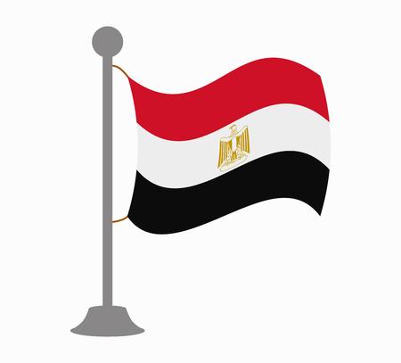 bandera de egipto: egipto mástil de la bandera